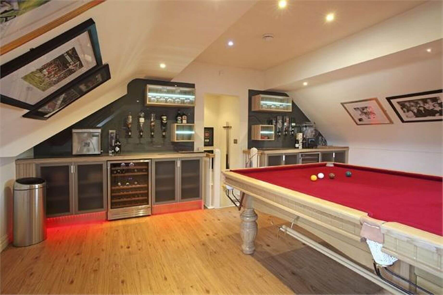 Man Cave With Loft : Man cave loft games room bar pool table wakefield